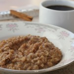 a bowl of crockpot steel cut oatmeal