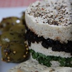 Raw Cashew Cheese with Oil Cured Olives and Fresh Tarragon