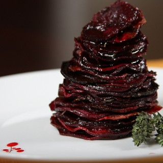 Roasted Beet Stack with Balsamic Vinegar and Fresh Thyme