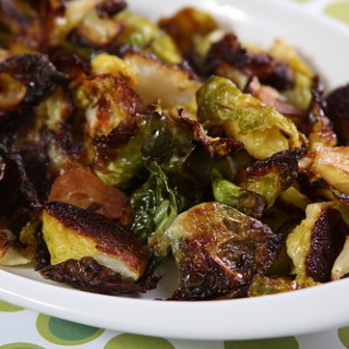 Roasted Brussels Sprouts Leaves