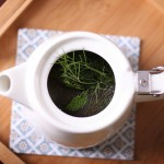 Fresh Mint and Fennel Frond Tea