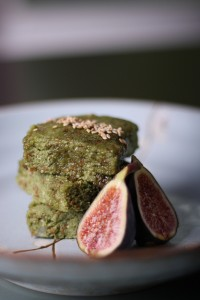 Raw Almond Matcha Cakes