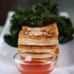 Simple Sauteed Tofu with Crispy Sesame Kale