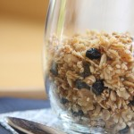 Homemade Granola with Dried Blueberries