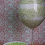 Green Tapioca Pudding with Salted Coconut Cream