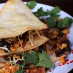 Black Bean and Corn Quesadillas with Smoked Paprika