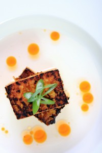 Ginger-Garlic Tofu with Fiery Chili Oil
