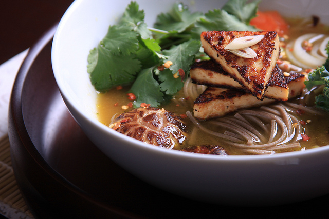 Galangal Tofu with Lemongrass-Scented Broth