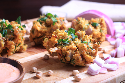 Curried Chickpea and Onion Fritters