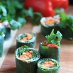 Raw Collard Greens Sushi Rolls