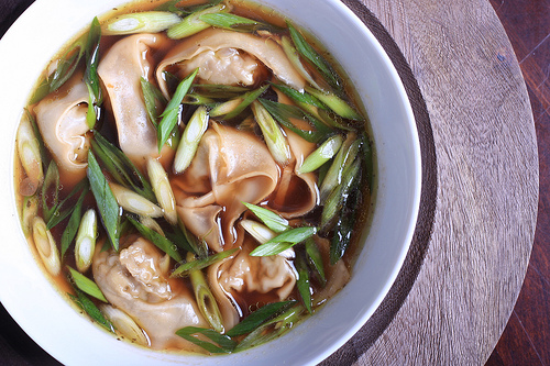 Oyster Mushroom Wonton and Lemongrass Soup