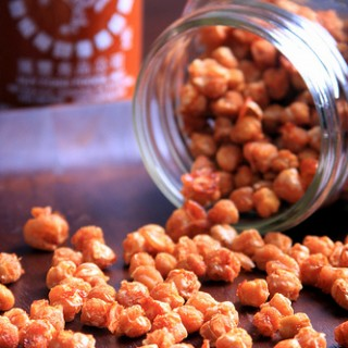 Dried and Fried Sriracha Chickpeas