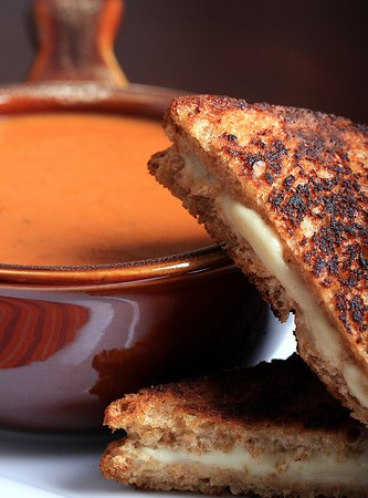 Vegan Grilled Cheese with Smoky Tomato Soup