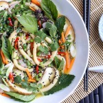 Mint, Basil and Cilantro Udon Noodle Bowl