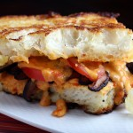 Vegan Grilled Cheese with Shiitake Bacon and Tomato