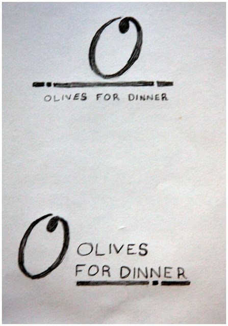 Olives for Dinner logo concepts