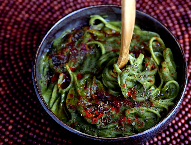 Spinach Alfredo Linguine from One-Dish Vegan