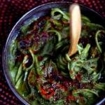 Spinach Alfredo Linguine