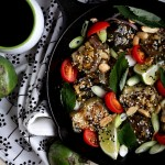 Roasted Thai Eggplant with Cherry Tomatoes and Basil