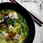 Faux Pork Wonton Soup with Bok Choy