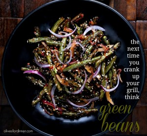 Sambal and Sesame Dressed Grilled Green Beans