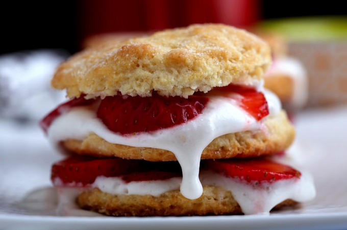 Strawberry Shortcakes with Coconut Whipped Cream