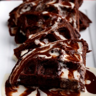 Chocolate Beer Waffles