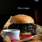 Vegan BBQ Bacon Burger from But I Could Never Go Vegan by Kristy Turner
