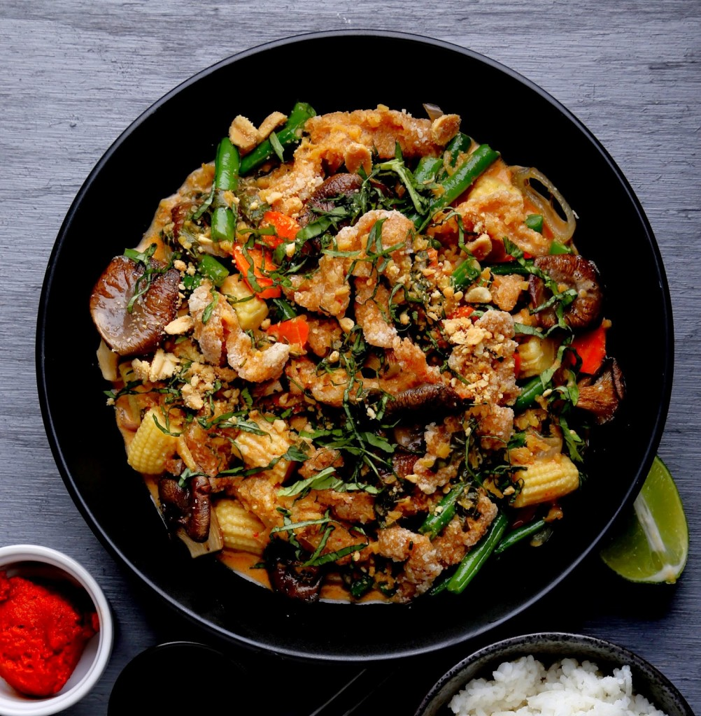 Red Curry and Ginger Coconut Sauce