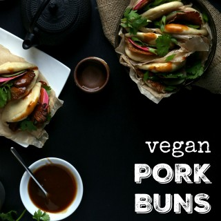 Vegan Pork Buns with Oyster Mushroom Bacon
