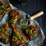 Spicy Thai-Style Pizza with Peanut Sauce