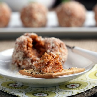 Vegan Port Wine Cheese Ball
