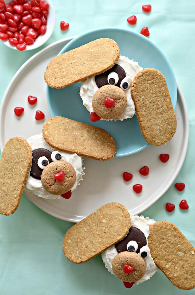Puppy Love Valentine Cupcakes