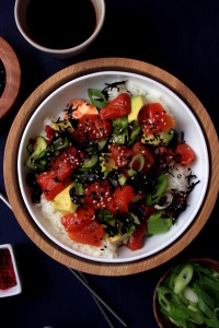 Watermelon Tuna Poke Bowl