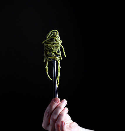 Pasta with Seaweed-Matcha Butter
