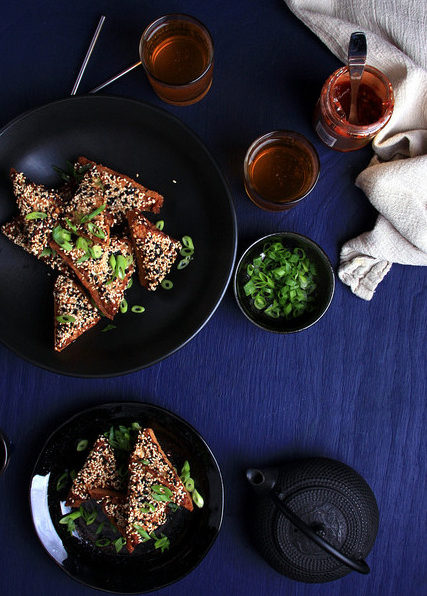 Crispy Vegan Shrimp Toast