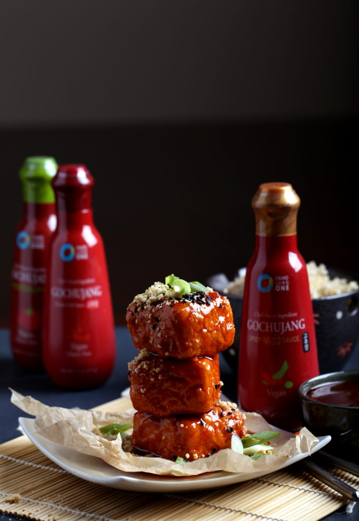 Double-Dredged Tofu with Gochujang Glaze + A Giveaway from Chung Jung One! [closed]