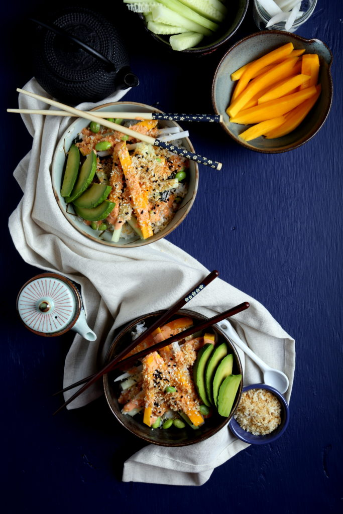 Spicy Sushi Bowl from Vegan Yack Attack! by Jackie Sobon