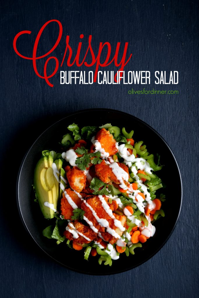 Crispy Buffalo Cauliflower Salad