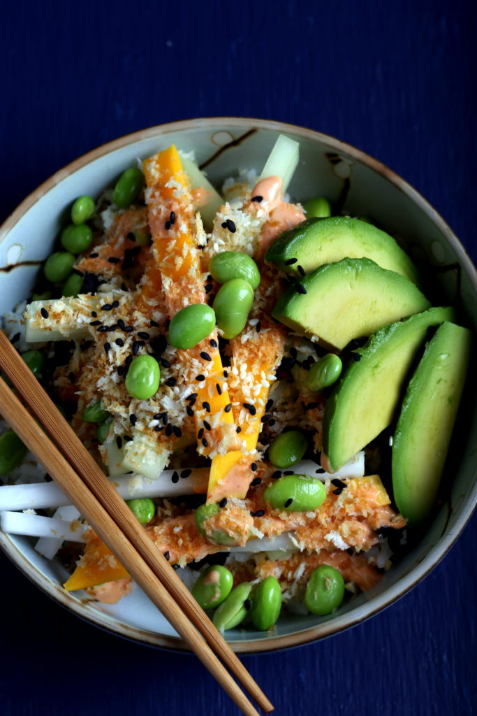 Spicy Sushi Bowl from Vegan Bowl Attack!