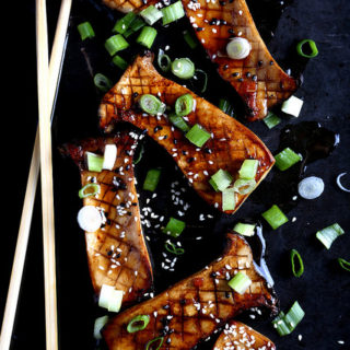 Seared King Oyster Mushrooms with Homemade Teriyaki Sauce