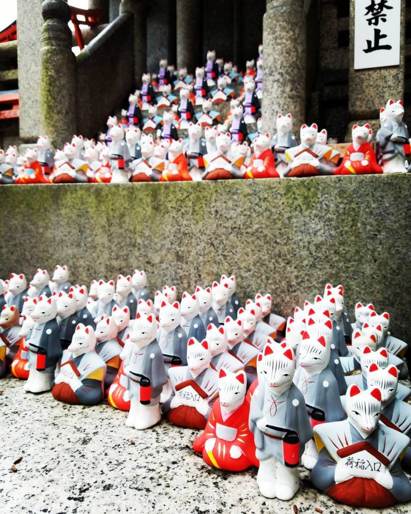Fox Statues at Fushimi Inari-taisha