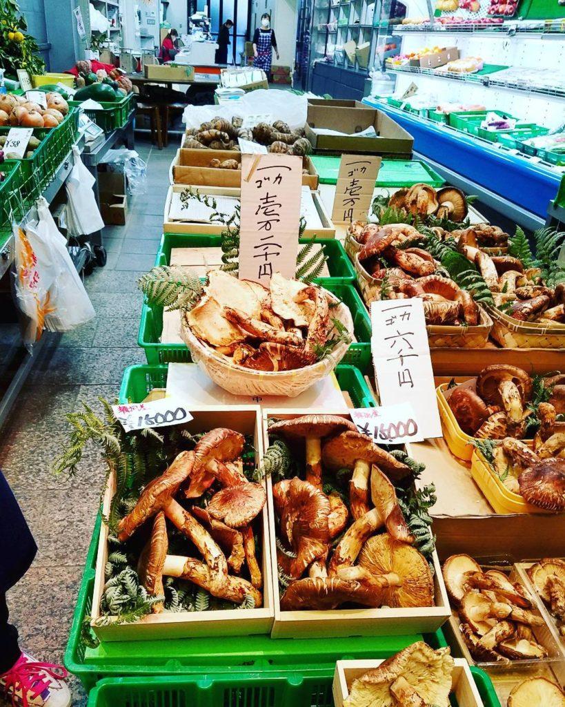 Matsutake Mushrooms at Nishiki Market