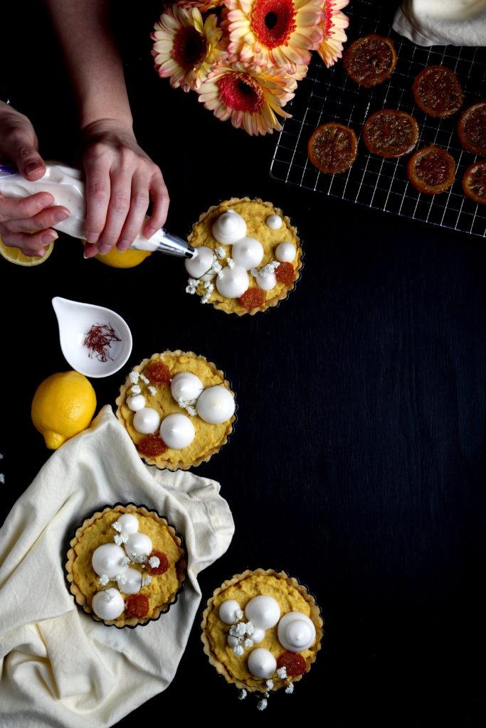 Lemon-Saffron Tarts