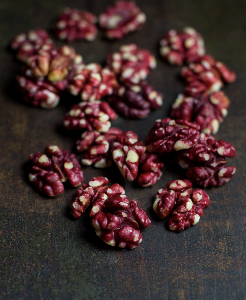 Red Walnuts by Mississippi Vegan