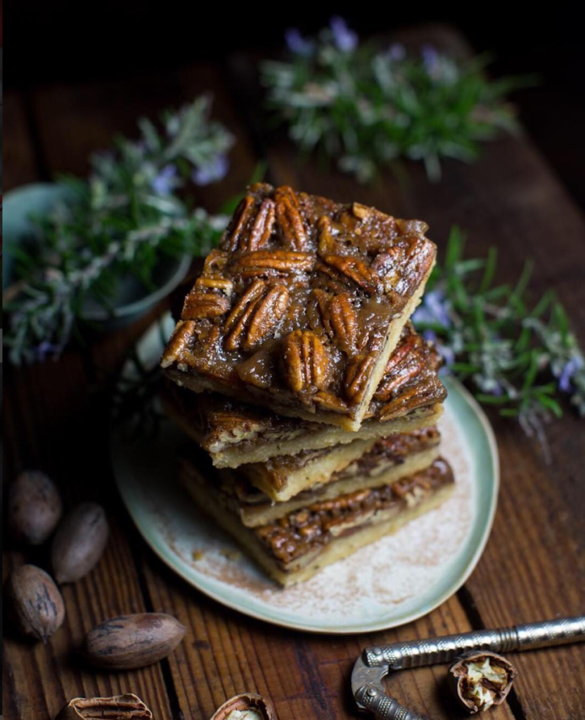 Rosemary Pecan Bars by Mississippi Vegan