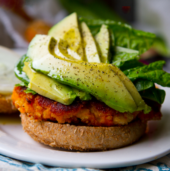 Sweet Potato Burger by Kathy Patalsky