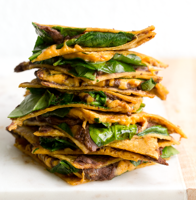 Vegan Bean and Cheese Quesadillas by Kathy Patalsky