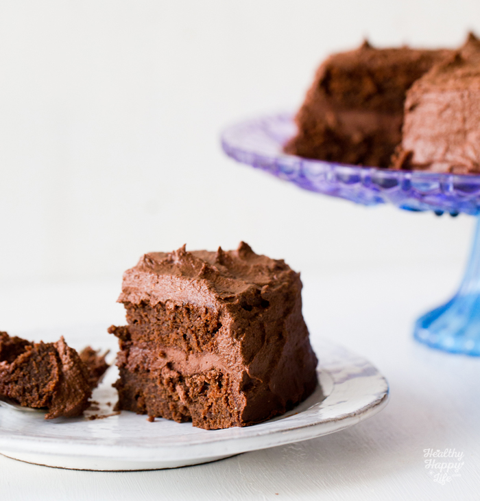 Vegan Chocolate Layer Cake by Kathy Patalsky