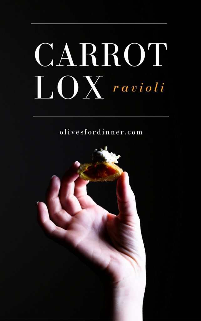 Carrot Lox Stuffed + Fried Ravioli